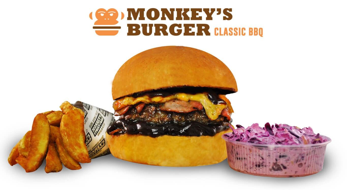 Classic BBQ Burger Menü