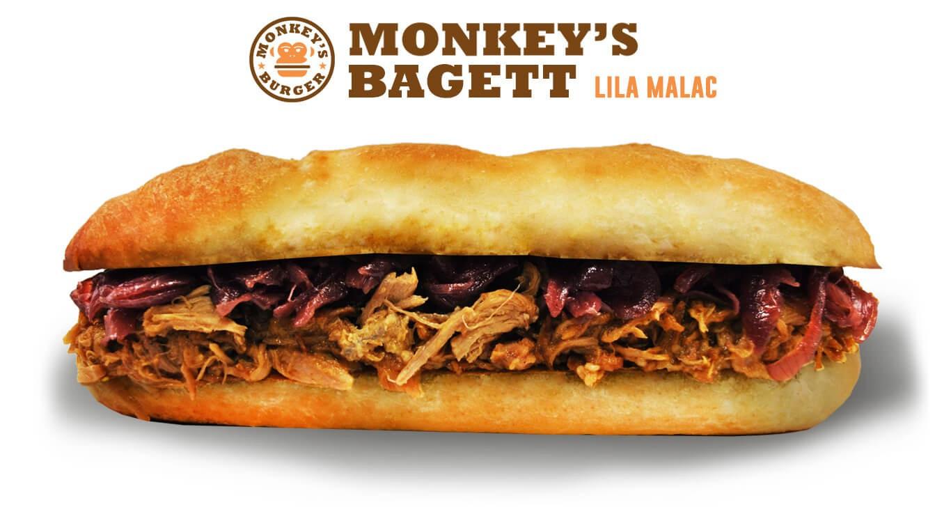 Pulled Pork Lila Bagett