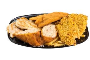4 személyes csirke bőségtál